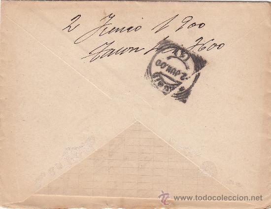 Sellos: CARTA CIRCULADA 29 MAYO 1900 DE BETANZOS-NEDA (A CORUÑA) A MADRID, CON MATASELLOS DE CARTERIA. - Foto 2 - 22427822