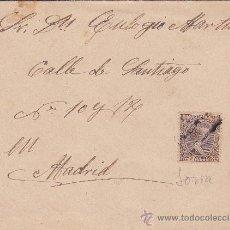 Sellos: RARO MATASELLOS CARTERIA SORIA CARTA CIRCULADA 1900 MORCUERA (SORIA)-MADRID. CARTA EN INTERIOR. MPM.. Lote 11379290