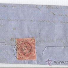 Sellos: CARTA CIRCULADA DE ARNEDO LOGROÑO A ORTIGOSA. PRECIOSO MATASELLO DE ARNEDO EN SELLO.1864 . Lote 11732311