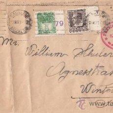 Sellos: RARO MATASELLOS CARTERIA BARCELONA CARTA PREVISORA MEDICA CIRCULADA 1937 BARCELONA-SUIZA CENSURA MPM. Lote 11874104