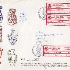 Sellos: CERTIFICADO MADRID UNICO FRANQUEO ETIQUETAS EPELSA XII CERTAMEN IBEROAMERICANO 1987. LLEGADA. GMPM.. Lote 13229441