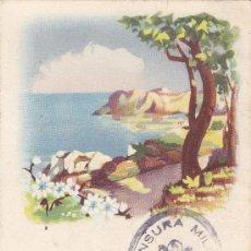 Sellos: TARJETA FELICITACION PASCUA 1940, CIRCULADA DE LECCE (ITALIA) A BARCELONA 1940. CENSURA MILITAR.. Lote 25632361