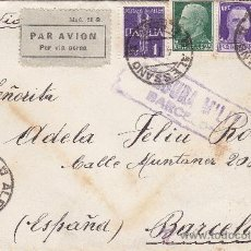 Sellos: CARTA CIRCULADA 1939 DE ALESSANO (ITALIA) A BARCELONA. CENSURA MILITAR DE BARCELONA.. Lote 25662307