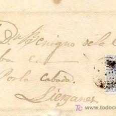 Sellos: CARTA CIRCULADA A LIÉRGANES, SANTANDER EN 1872, CON SELLO EDIFIL Nº 121. Lote 26456403