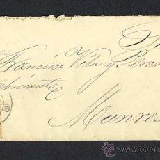 Sellos: SOBRE CIRCULADO DE BARCELONA A MANRESA EN 1883. Lote 12656522