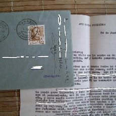 Sellos: SOBRE ENTERO CON SELLO DE FRANCO 50 CTS SELLADO 4-7-1950 (INCLUYE CARTA). Lote 25462893