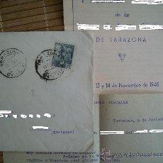 Sellos: SOBRE CIRCULADO CON SELLO DE FRANCO 50 CTS SELLADO. 10-NOV-1948 ZARAGOZA . INCLUYE CARTA. Lote 25462904