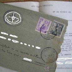 Sellos: SOBRE CIRCULADO CON SELLOS DE FRANCO DE 50 CTS Y EL CID 5 CTS 30-NOV-1949 ZARAGOZA .CON CARTA. Lote 25462897
