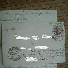 Sellos: SOBRE CIRCULADO CON SELLO DE FRANCO DE 50 CTS SELLADO 18-MAYO-1950 ZARAGOZA. CON CARTA.. Lote 25462898