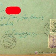 Sellos: + SANTO TOMÉ, JAEN, SOBRE CON MATASELLOS, AÑO 1953, COLOR ROJO SOLO EN FOTO.. Lote 12805695
