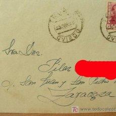 Sellos: + OVIEDO, SOBRE CON MATASELLOS, AÑO 1955, COLOR ROJO SOLO EN FOTO.. Lote 12806356