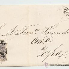 Sellos: ENVUELTA DE CARTA ZAFRA 1871. Lote 13127651