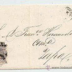 Sellos: ENVUELTA DE CARTA ZAFRA 1871. Lote 27435514