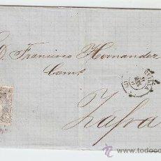 Sellos: ENVUELTA DE CARTA ZAFRA 1871. Lote 27409812