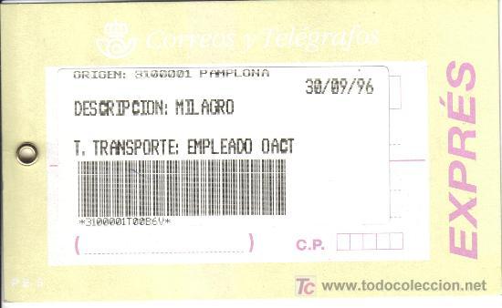 Correos etiqueta postal express transporte furg comprar for Oficina correos pamplona