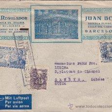Sellos: FRENTE HOSPITALES Y AUXILIO INVIERNO Y RARA PUBLICIDAD EN CARTA 1939 CORREO AEREO BARCELONA-SUIZA.. Lote 25269642