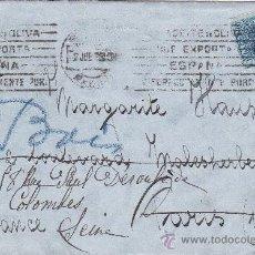 Sellos: RODILLO PUBLICITARIO EN CARTA CIRCULADA 1929 DE MADRID A PARIS. MATASELLOS DE LLEGADA.. Lote 13588643