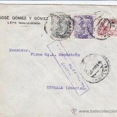 Sellos: EL CID. CARTA COMERCIAL (JOSE GOMEZ Y GOMEZ) CIRCULADA 1944 LEPE (HUELVA)-UPPSALA (SUECIA). CENSURA.. Lote 13617814