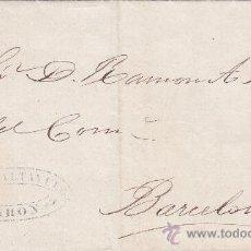 Sellos: CARTA (ENVUELTA) COMERCIAL (¿JUAN TALTANUTO?) CIRCULADA 1870 DE MAHON (BALEARES) A BARCELONA.LLEGADA. Lote 25869848