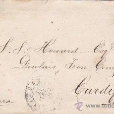 Sellos: MATASELLOS ROMBO PUNTOS Y FECHADOR TREBOL EN CARTA CIRCULADA 1878 DE VIZCAYA A CARDIFF. LLEGADA.. Lote 25869842