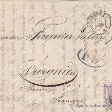 Sellos: 40 C. ALEGORIA DE LA JUSTICIA (EDIFIL 148) EN CARTA COMPLETA CIRCULADA BARCELONA A FRANCIA. LLEGADA.. Lote 22708452