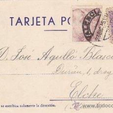 Sellos: PRO TUBERCULOSOS 1939 EN TARJETA COMERCIAL JUAN ORTS MONLLOR VALENCIA-ELCHE 1939 CM VALENCIA DEL CID. Lote 22477342