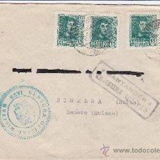 Sellos: SANTANDER E IRUN: DOBLE CENSURA MILITAR EN CARTA CIRCULADA 1939 DE SANTANDER A SUIZA.. Lote 25914808