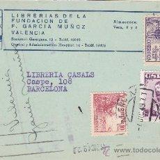 Sellos: EL CID Y FERNANDO CATOLICO TARJETA COMERCIAL (FUNDACION F. GARCIA MUÑOZ) 1949 VALENCIA-BARCELONA MPM. Lote 14007729