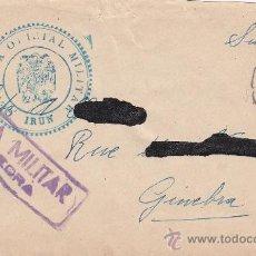 Sellos: DOBLE CENSURA MILITAR IRUN Y PONTEVEDRA EN CARTA CIRCULADA 1938 DE PONTEVEDRA A GINEBRA (SUIZA) RARA. Lote 26029720