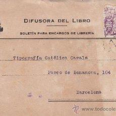 Sellos: MILENARIO DE CASTILLA ESCUDO SORIA TARJETA COMERCIAL (DIFUSORA DEL LIBRO) 1944 MADRID-BARCELONA. MPM. Lote 14414868