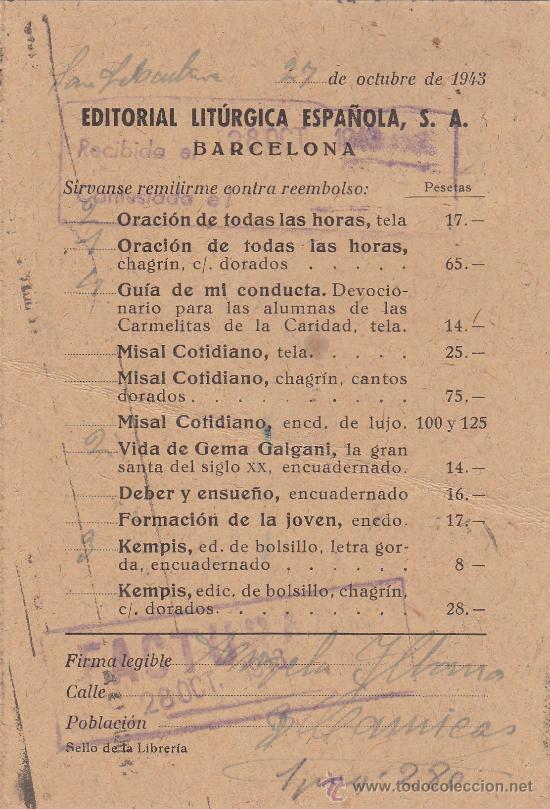 Sellos: FRANCO ARRIBA ESPAÑA RODILLO PATRIOTICO TARJETA COMERCIAL 1943 SAN SEBASTIAN GUIPUZCOA-BARCELONA MPM - Foto 2 - 14441657
