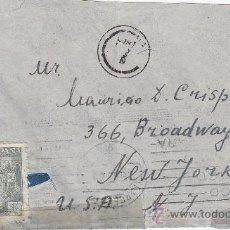 Sellos: DOBLE BANDA DE CENSURA EN CARTA CIRCULADA 1944 DE BARCELONA A NUEVA YORK. MARCA Y RODILLO PATRIOTICO. Lote 14711370