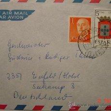 Sellos: 905 CARTA CIRCULADA TENERIFE ALEMANIA FECHADOR TENERIFE BAJAMAR AÑO 1966. Lote 14772118