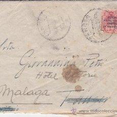 Sellos: MARRUECOS ESPAÑOL (EDIFIL 60) EN CARTA CIRCULADA 1922 DE TANGER A MALAGA. LLEGADA Y CARTA MANUSCRITA. Lote 27134639