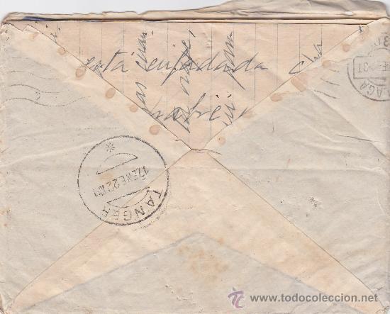 Sellos: MARRUECOS ESPAÑOL (EDIFIL 60) EN CARTA CIRCULADA 1922 DE TANGER A MALAGA. LLEGADA Y CARTA MANUSCRITA - Foto 2 - 27134639