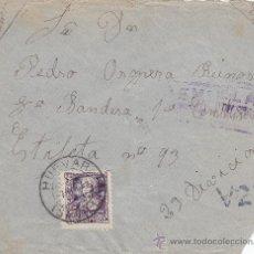 Sellos: GUERRA CIVIL FRONTAL DE CARTA CIRCULADA 1939 DE HUEVAR (SEVILLA) A PRIMERA CENTURIA. CM. MPM.. Lote 15308576