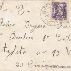 Sellos: GUERRA CIVIL FRONTAL DE CARTA CIRCULADA 1939 DE HUEVAR (SEVILLA) A PRIMERA CENTURIA. CM. MPM.. Lote 15308625