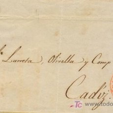 Sellos: BARCELONA A CADIZ, FRONTAL CON SELLO 12 IT MATASELLO PARRILLA Y FECHADOR BAEZA ROJO. Lote 15353686