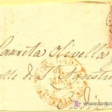 Sellos: IGUALADA A CADIZ, FRONTAL CON SELLO 12 MATASELLO PARRILLA Y FECHADOR BAEZA ROJO. Lote 15353748