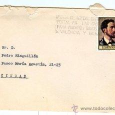 Sellos: SOBRE CIRCULADO ** MIGUEL BLAS BRIEBA ** JUGUETERIA Y TURISMO (ZARAGOZA) 1971. Lote 19292850