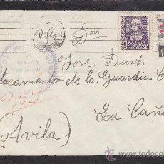 Sellos: PRO TUBERCULOSOS 1938 (EDIFIL 866) CARTA CIRCULADA 1938 DE SAN SEBASTIAN (GUIPUZCOA)-LA CAÑADA AVILA. Lote 27200173