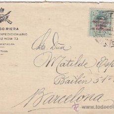 Sellos: MARRUECOS ESPAÑOL (EDIFIL 59/60) EN CARTA CIRCULADA 1922 DE TETUAN A BARCELONA. LLEGADA AL DORSO.. Lote 27221537