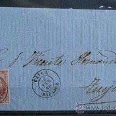 Sellos: ESPAÑA (1860) CARTA CIRCULADA DE ZAFRA (BADAJOZ) A TRUJILLO . Lote 26447148