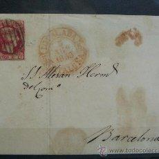 Sellos: ESPAÑA (1853) CARTA CIRCULADA DE IGUALADA A BARCELONA CON MARCA DE PREFILATELIA.RARA. Lote 26447151