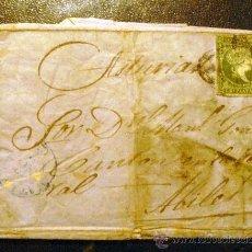 Sellos: 1858 CUBA CARTA CIRCULADA A AVILÉS (ASTURIAS) REVERSO MATASELLOS AVILÉS . MUY RARA. Lote 26251897