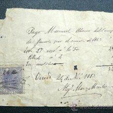 Sellos: ESPAÑA (1883) TIMBRE MÓVIL. RARA. . Lote 26475559
