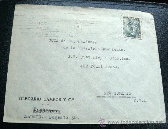 ESPAÑA GUERRA CIVIL CESURA DE MADRID EN REVERSO. (Sellos - Historia Postal - Sello Español - Sobres Circulados)