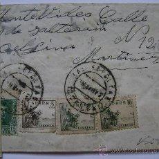 Sellos - ESPAÑA GUERRA CIVIL SOBRE CENSURA MILITAR LA CORUÑA DIRIGIDO A MONTEVIDEO URUGUAY - 17518591