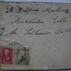 Sellos: ESPAÑA GUERRA CIVIL SOBRE CENSURA MILITAR LA CORUÑA DIRIGIDO A MONTEVIDEO URUGUAY . Lote 17518822