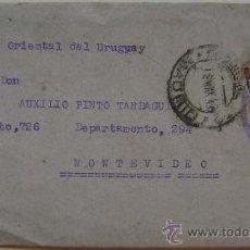 Sellos: ESPAÑA GUERRA CIVIL SOBRE CENSURA MILITAR MADRID DIRIGIDO A MONTEVIDEO URUGUAY . Lote 17725566